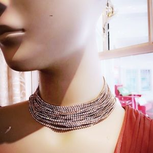 Choker rhinestone necklace . Brand new!